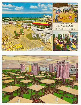Two postcards of Chicago, Illinois YMCA