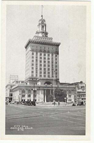 Real Photo postcard of City Hall, Oakland, California
