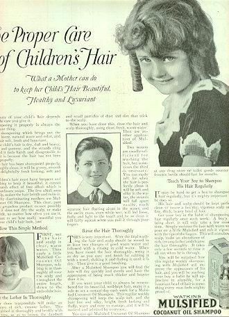 Mulsified Cocoanut Oil Shampoo 1921 Advertisement