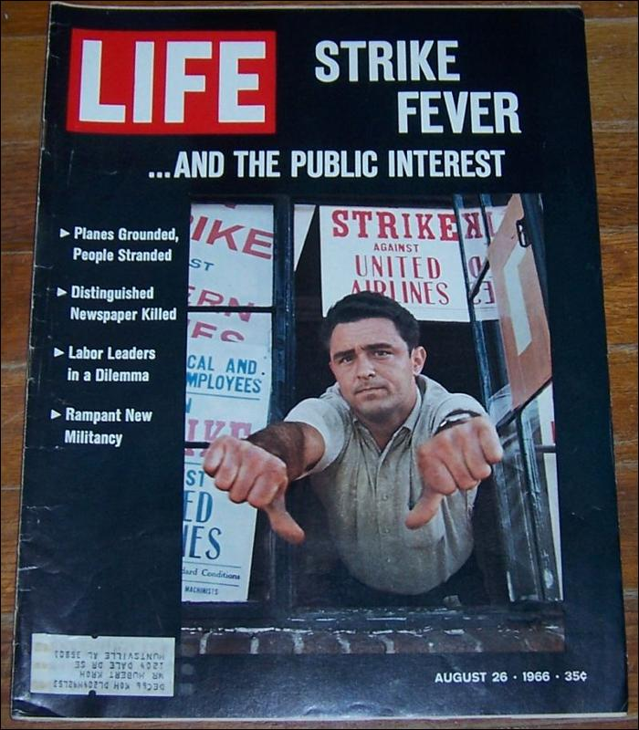 Life Magazine August 26, 1966 Strike Fever on the Cover Sunset Strip and Soccer