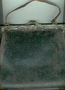 Leather Purse with Floral German Silver Clasp