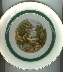 Homer Laughlin Plate With Amsterdam Decal