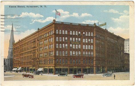 Yates Hotel, Syracuse, New York 1919 Postcard