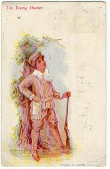 The Young Hunter 1907 CF Gunther Postcard
