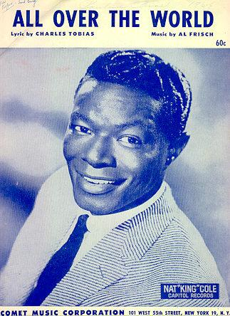 All Over the World Sung by Nat King Cole 1962 Sheet Music