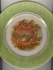 Salem China Century Plate with Colonial Decal