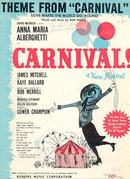 Theme From Carnival Anna Maria Alberghetti 1961 Sheet Music