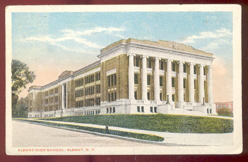 Albany High School, Albany, New York 1919 Postcard