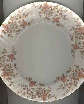 Adderley Dinner Plate w/ Pink and Gray Roses