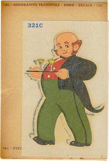 Duro Decal of Butler with drinks