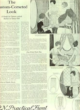 P. N. Practical Corsets 1921 Advertisement
