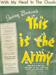 With My Head in the Clouds from This is the Army 1942 Sheet Music