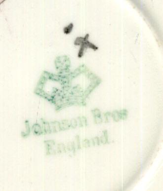 Johnson Bros Cup and Saucer with fruit