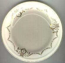 Knowles Small Plate with Golden Garland Edge
