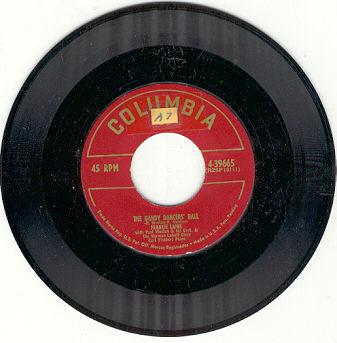 Frankie Lane Gaudy Dancers' Ball 45RPM Record
