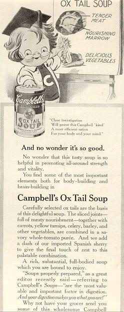 Campbell's Ox Tail Soup 1916 Advertisement
