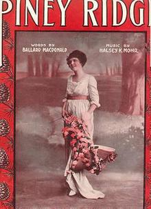 Piney Ridge 1905 sheet music