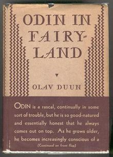 Odin in Fairy-Land by Olav Duun 1932 1st