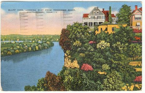 Postcard of Bluff View, Chattanooga, Tennessee 1942