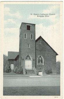 Postcard of St. Peter`s Lutheran Church Holgate Ohio