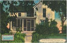Postcard of Home of Bob Burns, Van Buren, Arkansas 1954