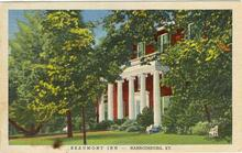 Postcard advertising Beaumont Inn, Harrodsburg, Kentucky