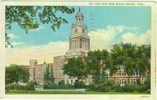 Postcard of East Side High School, Denver, Colorado 1946