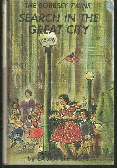 Bobbsey Twins Search in the Great City by Laura Lee Hope #9 1960 Pictorial Cover