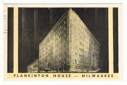 Postcard of Plankinton House in Milwaukee, Wisconsin 1960