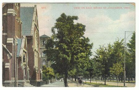 Postcard of View on East Broad Street, Columbus, Ohio 1909