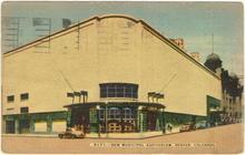 Postcard of New Municipal Auditorium, Denver, Colorado 1942