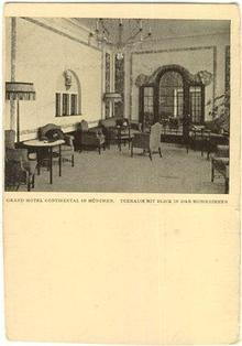 Postcard of the Grand Hotel Continental in Munchen, Germany