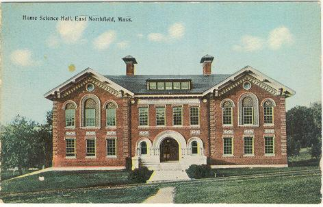 Postcard of Home Science Hall, East Northfield, Massachusetts