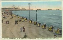Postcard of Rolling Chair Parade Atlantic City, New Jersey 1915