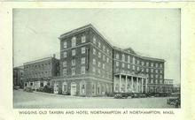 Postcard of Old Tavern and Hotel Northampton at Northampton, Massachusetts