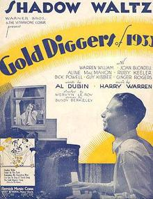 Shadow Waltz from Gold Diggers of 1933 Sheet Music