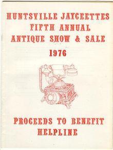 Huntsville Jaycettes Antique Show 1976 Directory