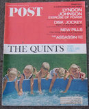 Saturday Evening Post Magazine September 24, 1966 The Quints, Now They are Three On Cover