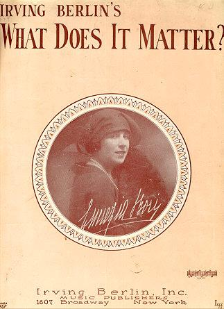 What Does it Matter by Irving Berlin 1927 Sheet Music