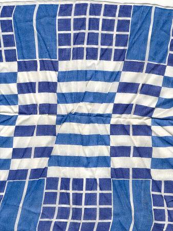 Blue Square Geometric Handkerchief
