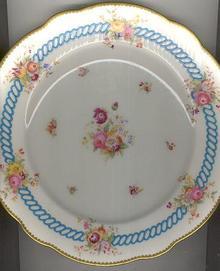 Coalport Handpainted Floral Dinner Plate