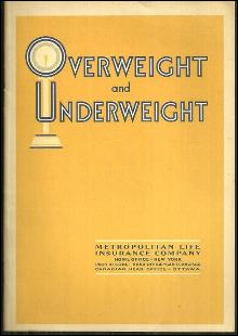 Overweight and Underweight by Metropolitan Life Insurance Booklet
