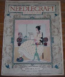Needlecraft Magazine September 1926 Cover by Helen Grant Embroideries and Salad