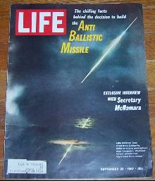 Life Magazine September 29, 1967 Anti Ballistic Missile Test on cover