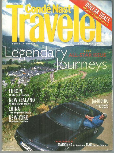 Conde Nast Traveler September 2002 All Star Issue Legendary Journeys