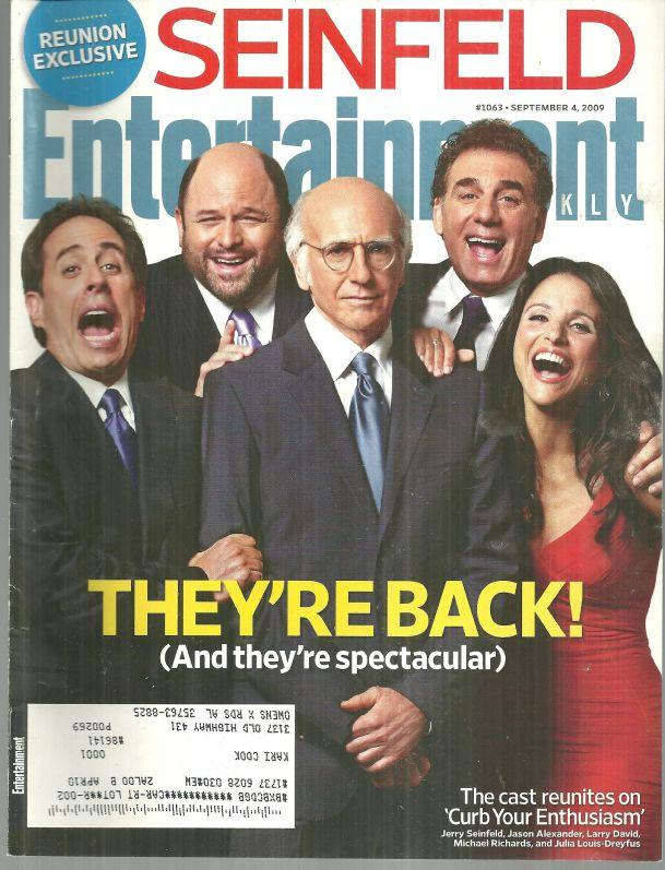 Entertainment Weekly Magazine September 4, 2009 Seinfield Cast Reunion Cover