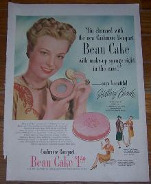 Cashmere Bouquet Beau Cake Make Up Life Magazine Color Advertisement