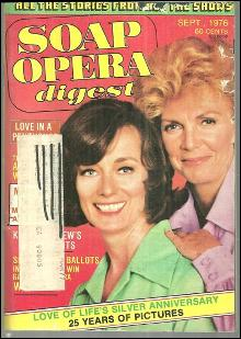 Soap Opera Digest Magazine September 1976 Audrey Peters and Tudi Wiggins Cover