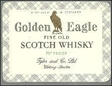 Vintage Golden Eagle Fine Old Scotch Whisky Label