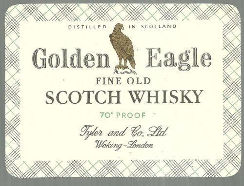 Vintage Golden Eagle Fine Old Scotch Whisky Label
